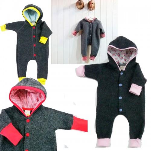 Baby Walk-Overall aus Bio Merino-Wollfleece | Ulalue