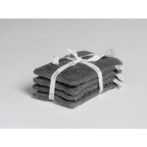 Waschlappen Dark Grey 4 Stk.