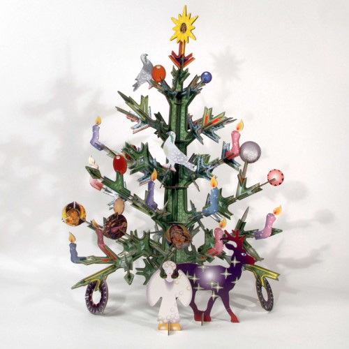Weihnachtsbaum-Set aus Recycling-Pappe