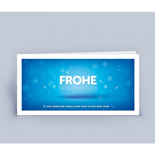 Weihnachtskarte blau im modernem Design   eco-cards-shop
