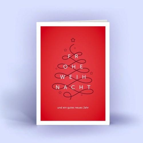 Christbaum geschwungen - Eco Weihnachtskarten | eco-cards