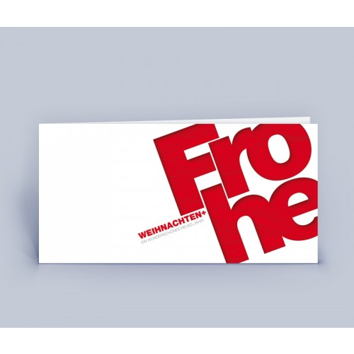 Öko Weihnachtskarte rot im schlichten Design   eco-cards