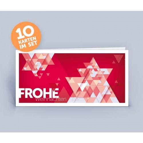 Weihnachtskarte rot Phantasie Weihnachtsbaum | eco-cards