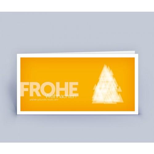 Öko Weihnachtskarte Weihnachtsbaum Modern | eco-cards-shop