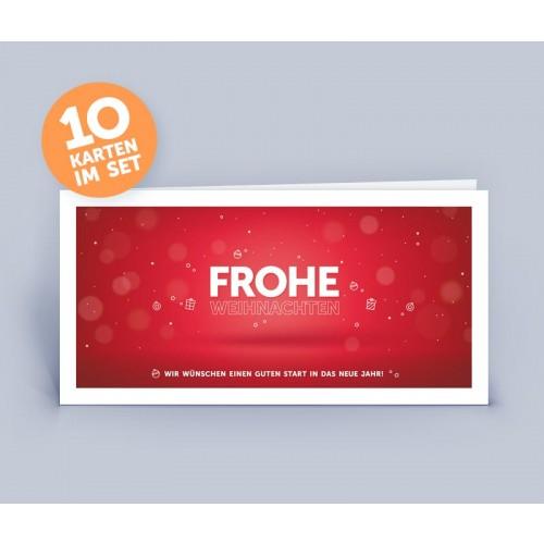 Weihnachtskarte rot mit exklusivem Design | eco-cards-shop