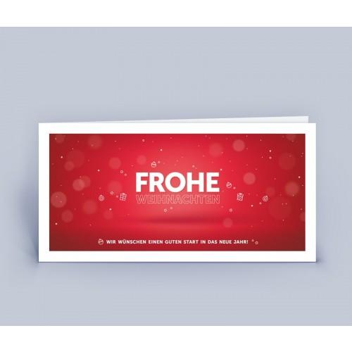 Weihnachtskarte rot mit exklusivem Design   eco-cards-shop