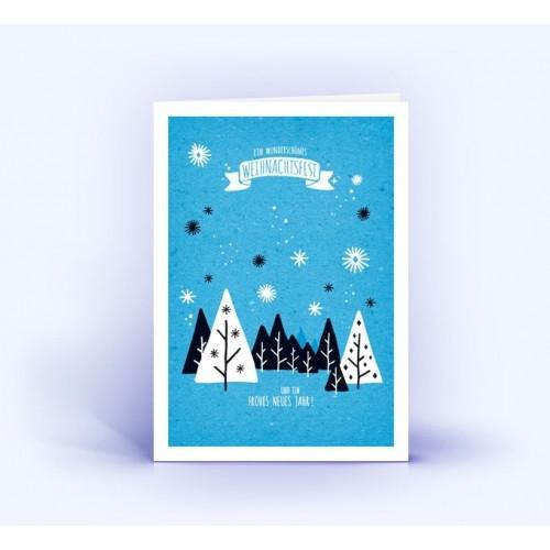 Winterlandschaft - Eco Weihnachtskarten, A6 hoch | eco-cards