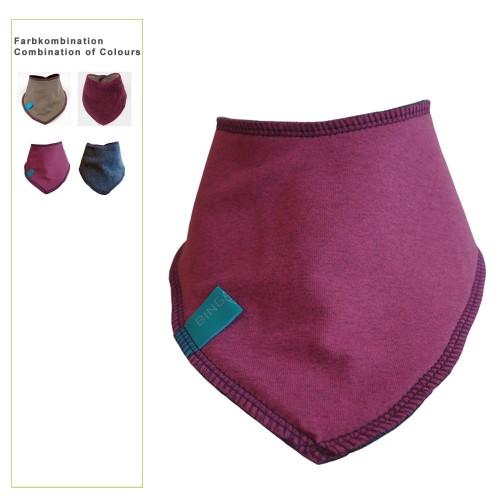 Winterfestes Baby Bandana Bio-Baumwolle/Fleece uni | bingabonga