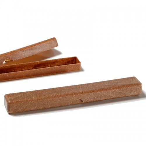 Saling Natur Zahnbürsten Etui aus Flüssigholz, braun