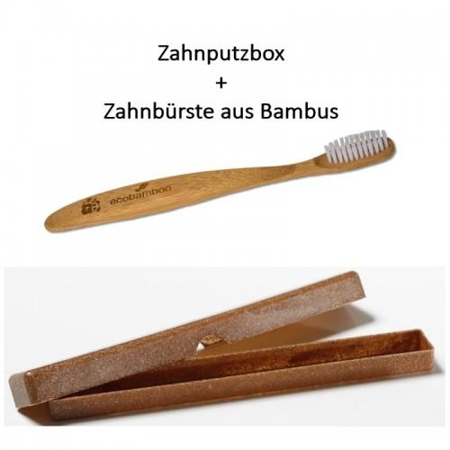 Bambus Zahnbürste & Etui aus Flüssigholz | Saling Natur