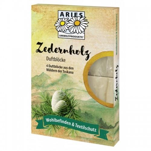 Zedernholz Duftblöcke - Textilschutz Motten & Co. | Aries