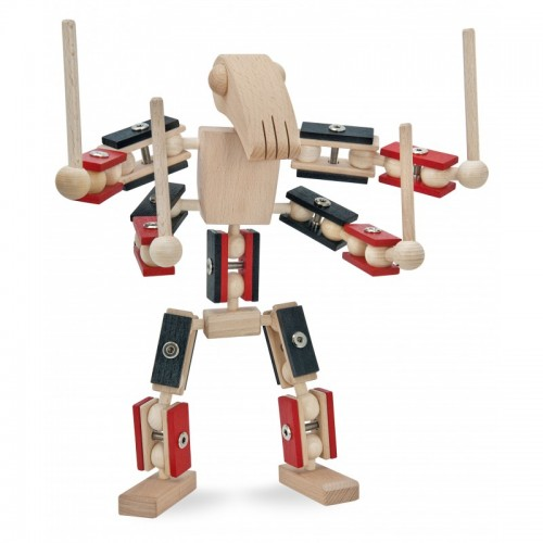 Helden aus Holz: 4-Zero Krieger – FSC Holzspielzeug