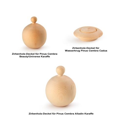 Zirbenholz-Deckel für Cadus, Alladin, Beauty & Universe