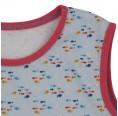 Ärmelloses Shirt aus Bio-Baumwolle kleine Fische - Koralle   bingabonga