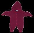 Kinder Bio Fleece Overall mit Handschuhe, beere | Reiff