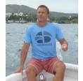 Herren T-Shirt HUAGAPO 100% recycled – Azurblau