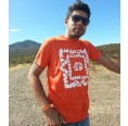 Herren T-Shirt ZACATON 100% recycled – Magma Rot