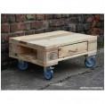 Upcycling Rolltisch aus Europaletten mit 1 Schublade