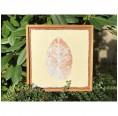Fine Art Pieces Leaf Bild mit Blatteindruck natur