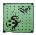 Babydecke Marienkäfer schwarz-grün – Bio-Baumwolle | Sonnenstrick