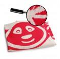 Bio Babydecke Pandabär – rot | Sonnenstrick