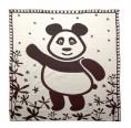 Bio Babydecke Pandabär – schwarz | Sonnenstrick