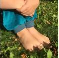 Kinder Gemütlichkeitshose Bio Nicki Türkis/Blau | bingabonga