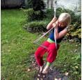 Kinder Gemütlichkeitshose Bio Nicki Rot/Grün | bingabonga