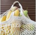 Wiederverwendbares Bio-Baumwoll-Einkaufsnetz, kurze Griffe | fesch & fair