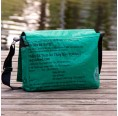 Upcycling Messenger Bag: fair.flixt – grüner Fisch | milchmeer
