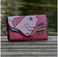 Pink Fisch: Geldbörse aus recyceltem Futtersack | milchmeer