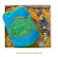 Bio Geschenkset für Kinder: Frotteebeutel blau & Seifenkette - early fish