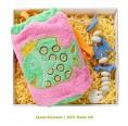 Bio Geschenkset für Kinder: Frotteebeutel Rosa & Seifenkette - early fish