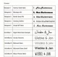 Schriftarten für Gravur Olivenholz Stiftehalter & Kugelschreiber von D.O.M.