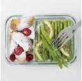 Glasslock Lebensmittelaufbewahrungsdose DUO Air Type 670 ml