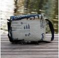 Umhängetasche fair.flixt - blauer Adler | Milchmeer ecobags