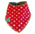 Baby Halstuch Bio-Jersey/Nicki kleine Sterne auf Rot | bingabonga