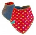 Bio-Nicki Baby Wendehalstuch kleine Sterne auf Rot | bingabonga
