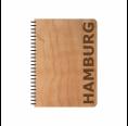 Öko Notizblock HAMBURG Kirschholz-Einband & FSC® Papier | Echtholz
