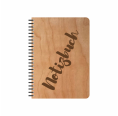 Öko Notizbuch Kirschholz-Einband & FSC® Papier Blanko | Echtholz