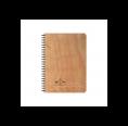 Echtholz Öko Notizbuch Papierschiffchen, weiß, A6 & A5
