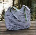 Upcycling Shopper - weißer Fisch fair.spielt | Milchmeer
