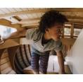 Kinder Bio Leggings knielang rot-blau » Ulalue