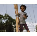 Ulalü Kinder Bio Leggings knielang rot-blau