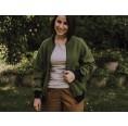 Wollwalk Blouson für Damen olivgrün, Wolle kbT » Ulalü