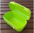 Vegane Lunchbox grün mit Scharnierverschluss | Biodora