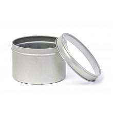Kräuterdose mit Klarsichtdeckel, 200 ml runde Blechdose