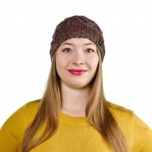 Alpaka Mütze Santa für Damen mit frechen Bommel, One Size, Kupfer-Orange
