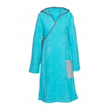 Frottee-Wickelkleid für Damen Meerblau