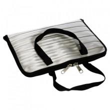 Laptop Tasche, grau recycelter Sicherheitsgurt (L)
